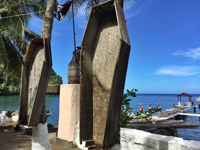 Set de rodaje de Piratas del Caribe en Wallilabou Bay (San Vicente y las Granadinas)