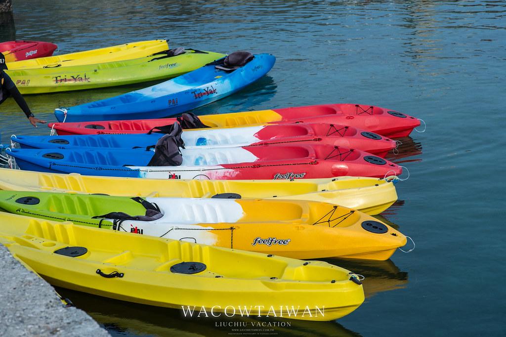 小琉球海上活動新選擇-獨木舟體驗-就找哇靠小琉球民宿