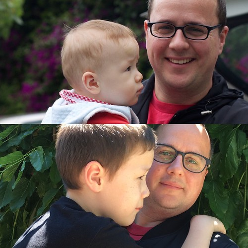 Alex and Dad, 2011 and Now | by cogdogblog