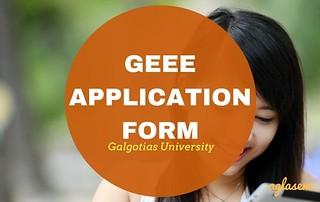 GEEE Application Form 2018 (Galgotias University) – Apply here
