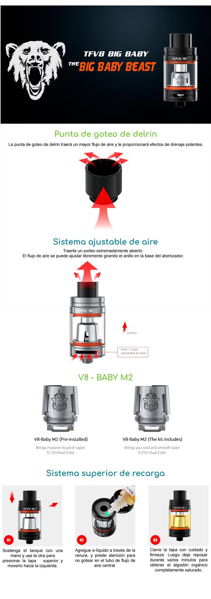 Atomizador SMOK TFV8 Big Baby
