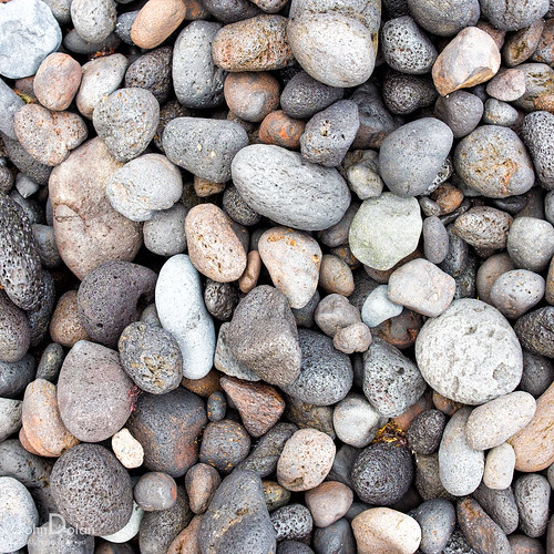 pebbles | ground works | tenerife | by John FotoHouse
