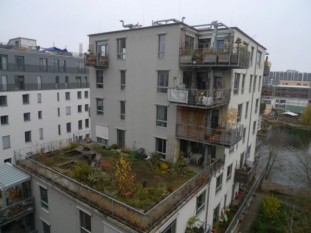 Spreefeld社區的屋頂花園。(攝影/ 陳怡樺)