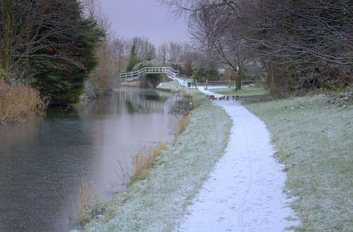Snowy path by the canal | by Tony Worrall