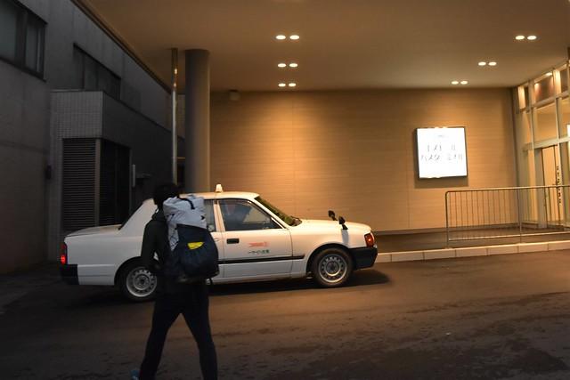 鶴岡バスターミナルからタクシーで登山口へ