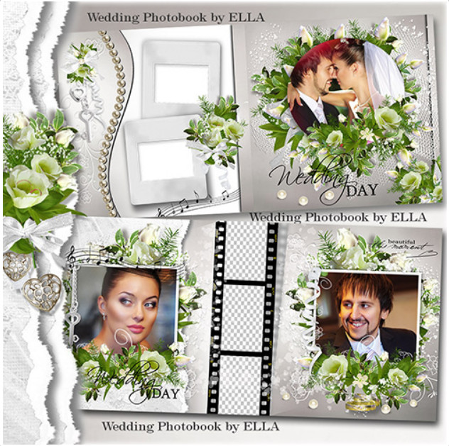 Luxury wedding PSD photobook – happy moments