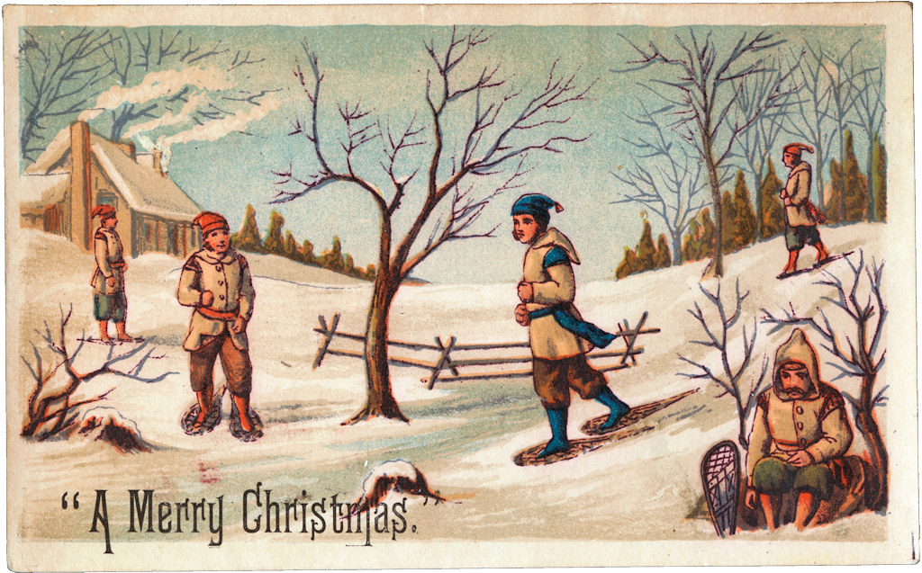 A Merry Christmas [ca. 1870 - 1900] 19th Century American Trade Cards, Boston Public Library