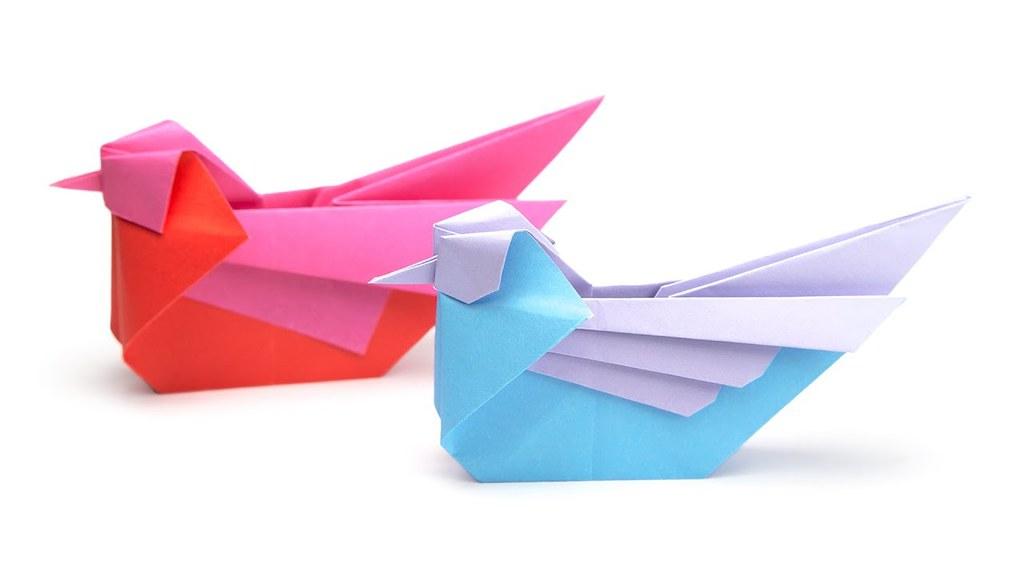Origami Mandarin Bird Tutorial Simon Andersen Paper Kawa Flickr