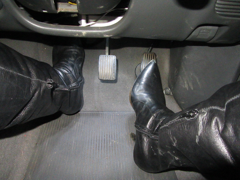Revving and pedal pumping in leather over knee stiletto boots guy pedal  revving jpg 1024x768 Pedal