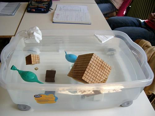 galleggiamento di diversi materiali