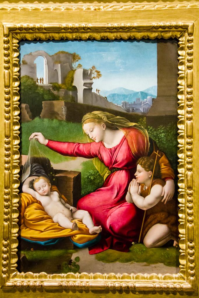 Virgen del velo de Rafael Sanzio del s.XVI Sacristia Cated ...