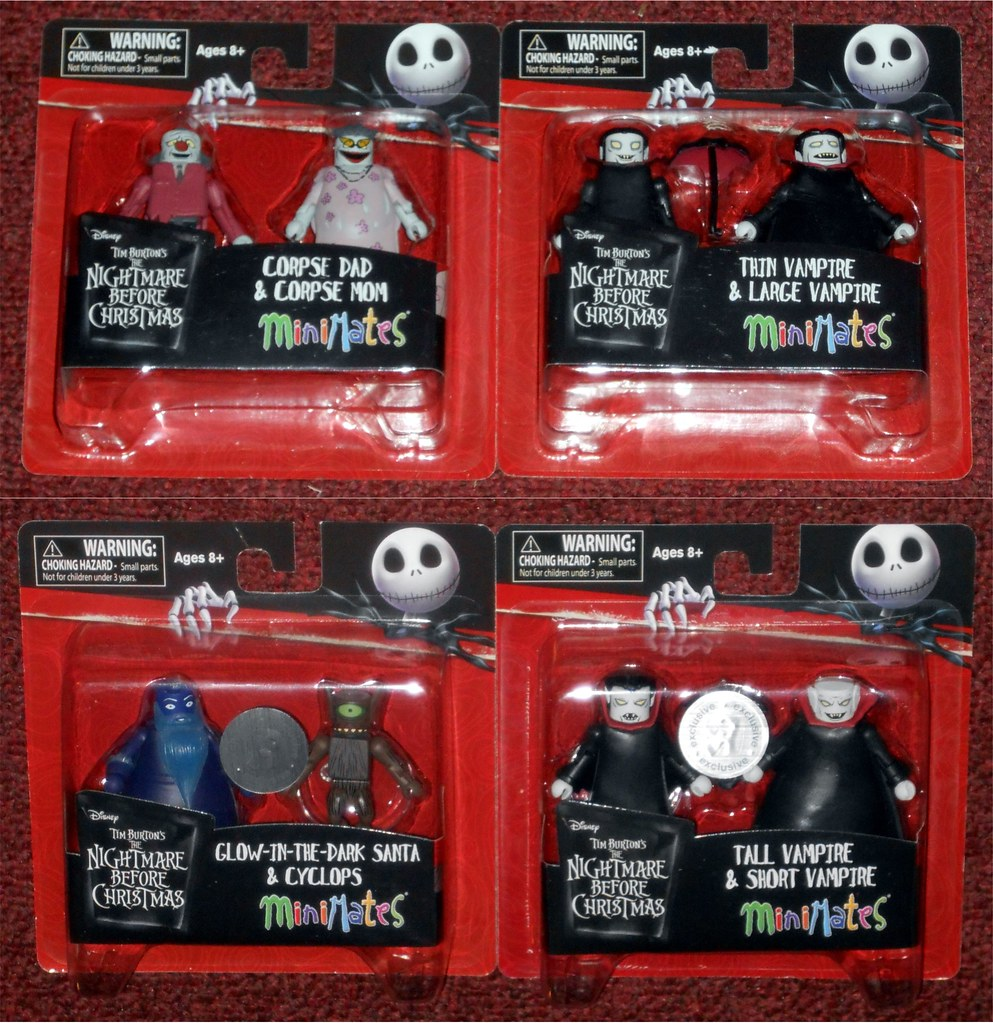 Nightmare Before Christmas Minimates Series 5 Glow-in-the-Dark Santa Jack