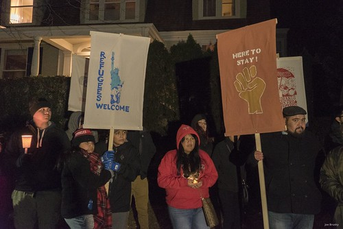 Gathering Outside Paul Ryan's Home | by Overpass Light Brigade