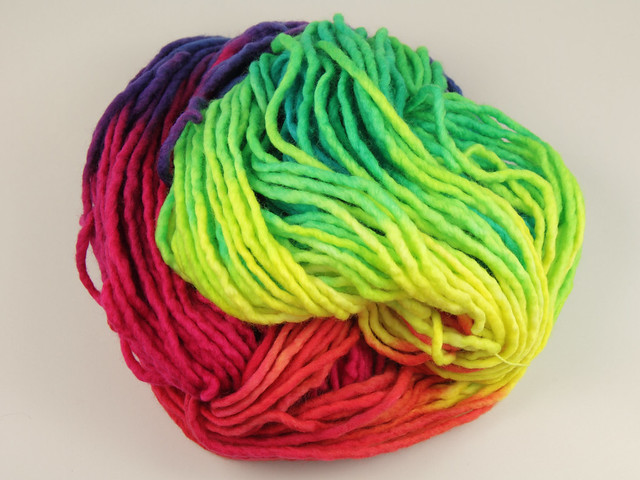 Phlump Merino – hand-dyed super chunky superwash wool yarn 200g – 'Lollipop'