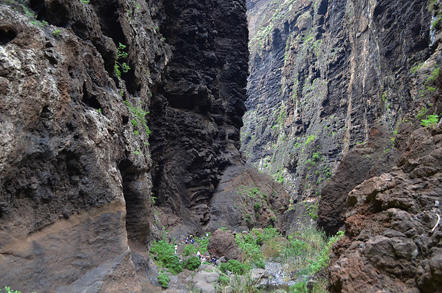 In the depths of the Masca Barranco, Tenerife