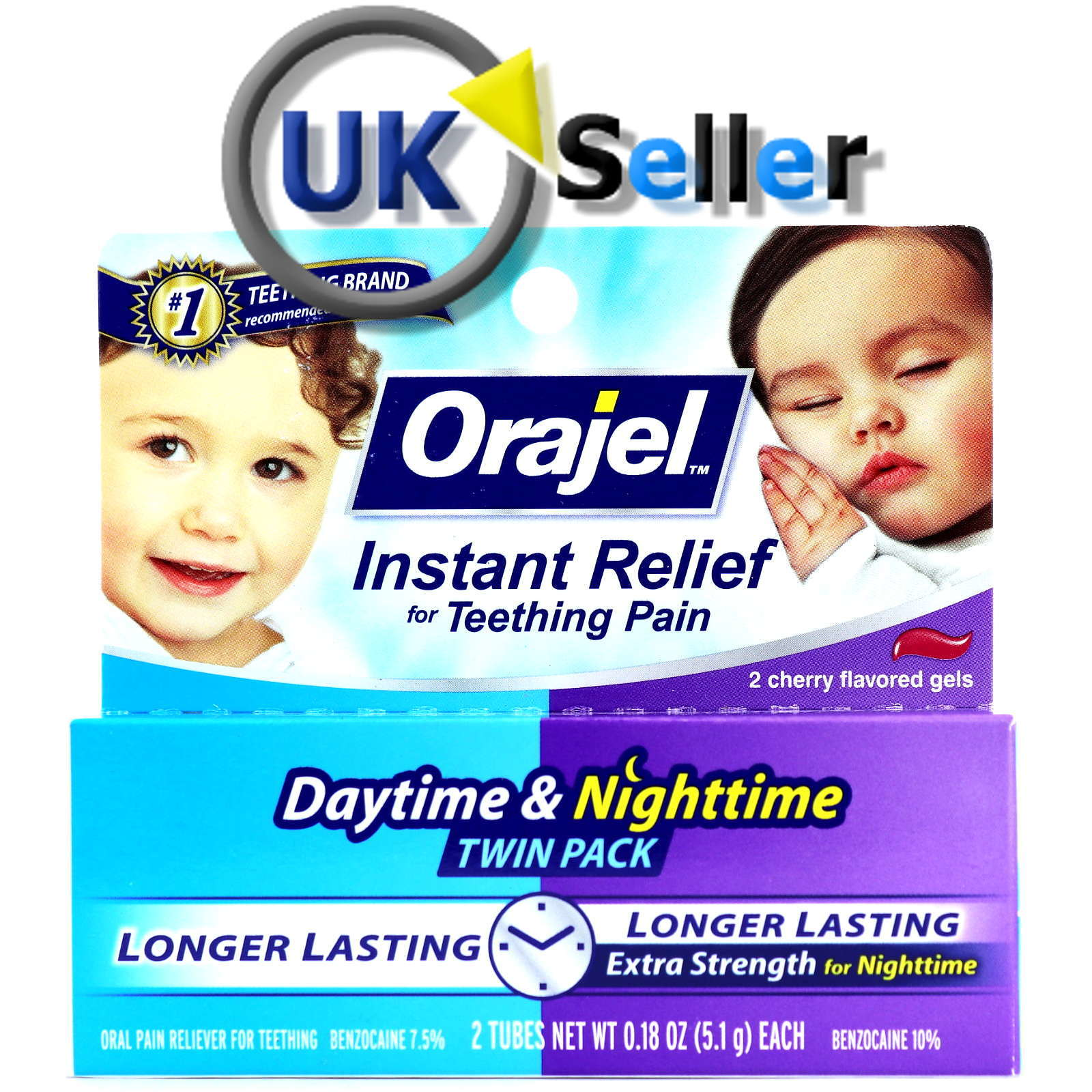 Baby Orajel Teething Instant Pain Relief Daytime