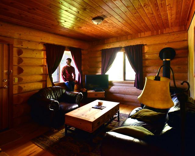 La cabaña de madera en la que dormimos durante nuestro recorrido por Canadá de 12 días