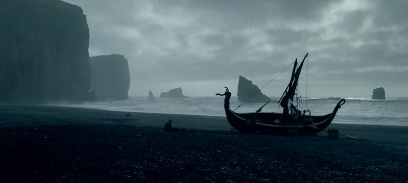 Ship in Iceland black sand beach