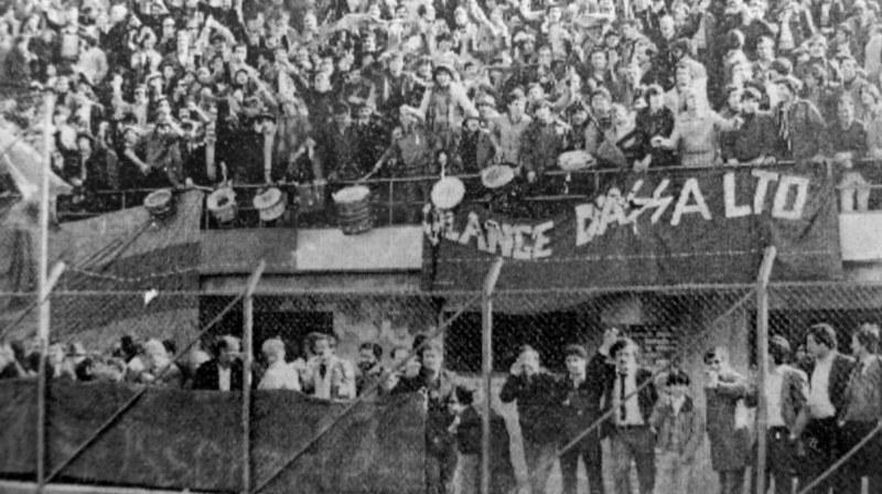 2 Marzo 1980: tifosi rossazzurri presenti in masa a Rende (Foto: Tutto il Catania minuto per minuto)