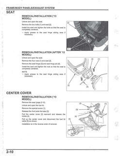 Honda 2013-2017 PCX Service Manual - 01 Seat and Center Cover Removal | by kiapolo