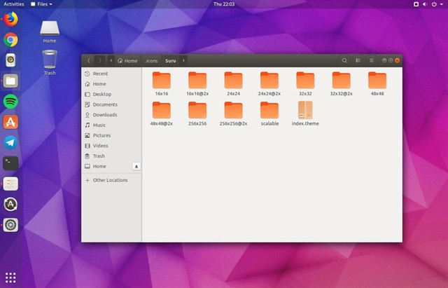 suru-icon-theme-on-ubuntu-desktop