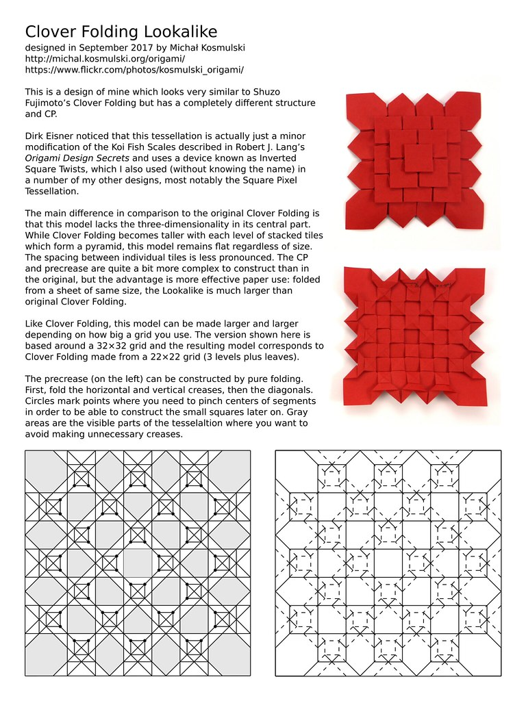 Clover Folding Lookalike Cp With Basic Instructions Flickr Origami Koi Diagram By Micha Kosmulski