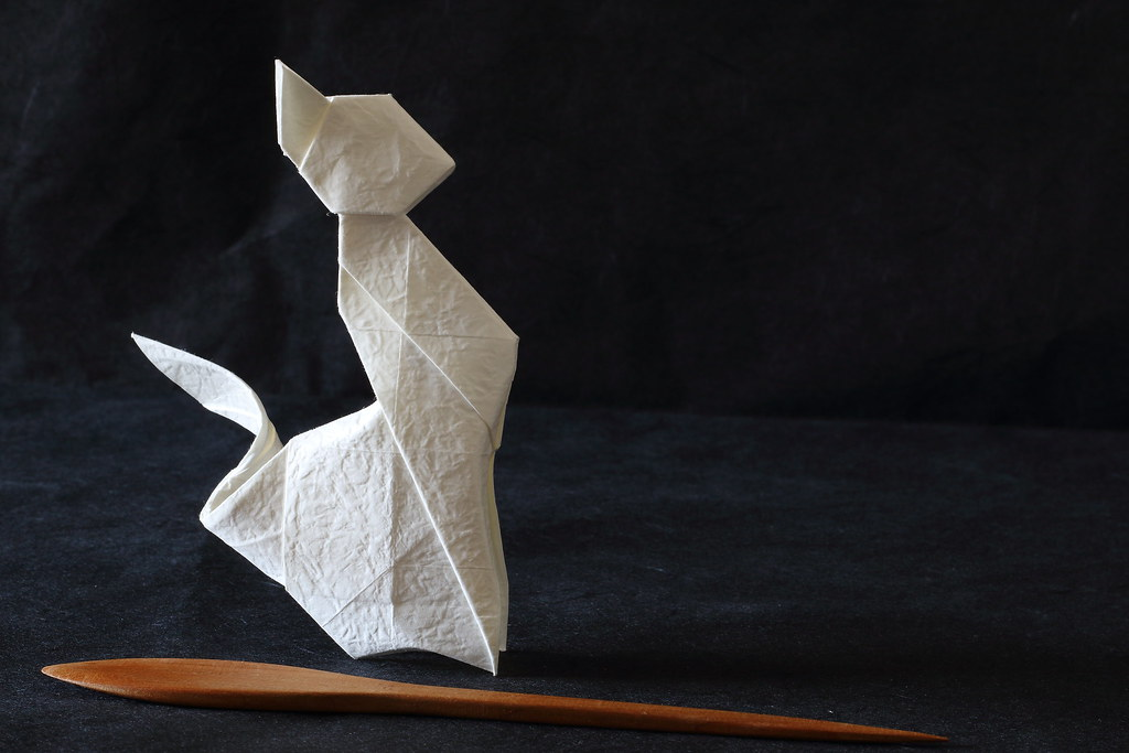 Cat Origami Designed By Andrey Ermakov Chinese Crumple Flickr
