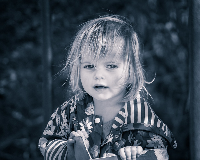 Child Portrait, Monochrome, B&W, Candid