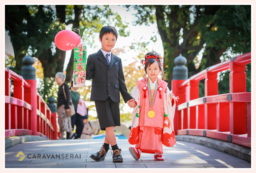 龍城(たつき)神社・岡崎城で(愛知県岡崎市)で七五三の出張撮影 | 年賀状にも間に合います!