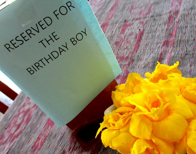 Payung Cafe reserved for birthday boy