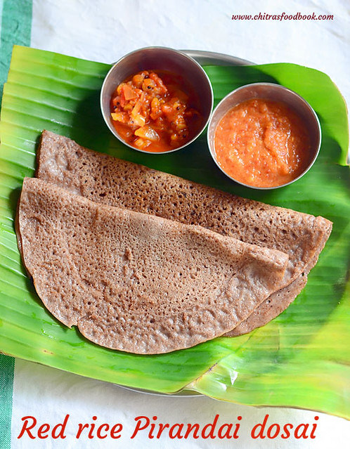 Red rice dosa