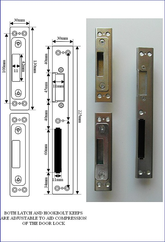 Mila Door Keep Set Centre Latch Amp 2 Hookbolt Keeps For