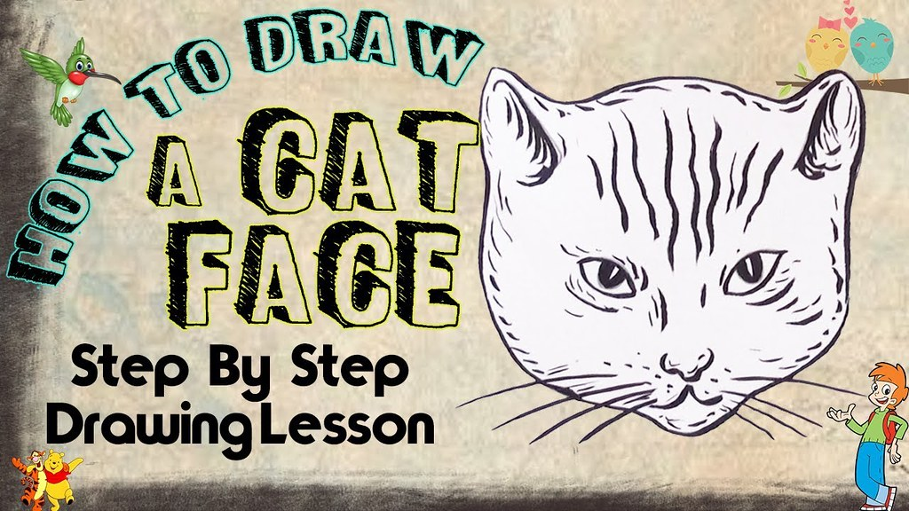 How To Draw A Cat Face Cat Face Drawing Art For Kids Ste Flickr