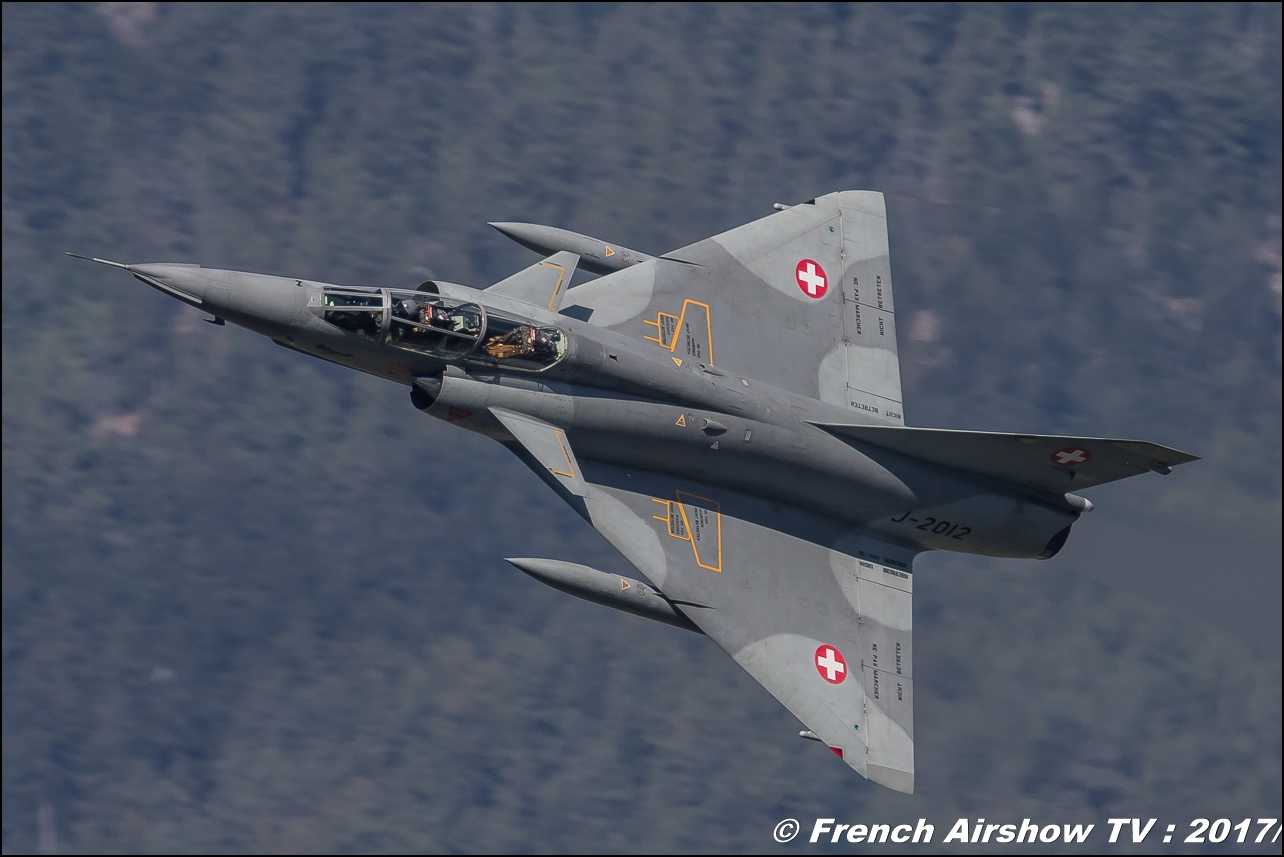 Mirage IIIs , mirage3 Dassault Aviation , J-2012 , Mirage III DS , Breitling Sion Air Show 2017 , sion airshow , montagne , Alpes suisse , Canton du Valais , Meeting Aerien 2017