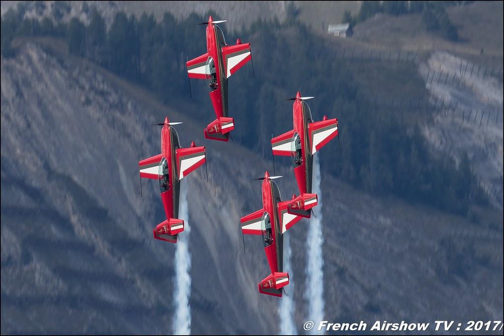 La patrouille des Royal Jordanian Falcons , Breitling Sion Air Show 2017 , sion airshow , montagne , Alpes suisse , Canton du Valais , Meeting Aerien 2017