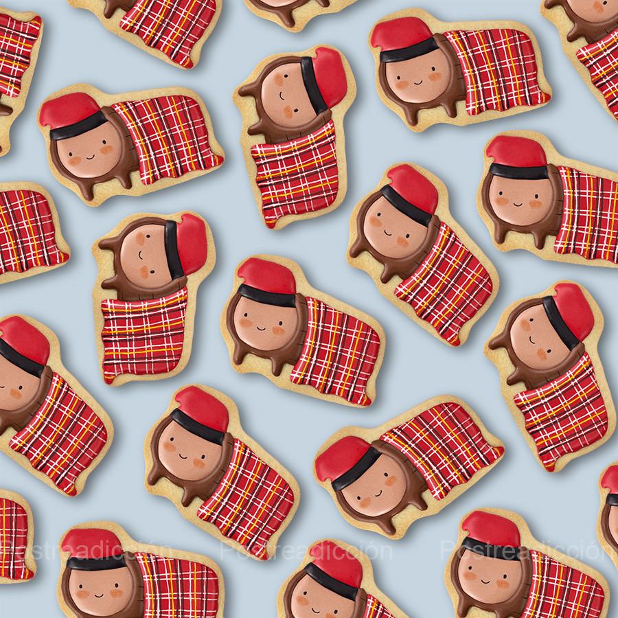 galletas de Navidad decoradas tió de Nadal
