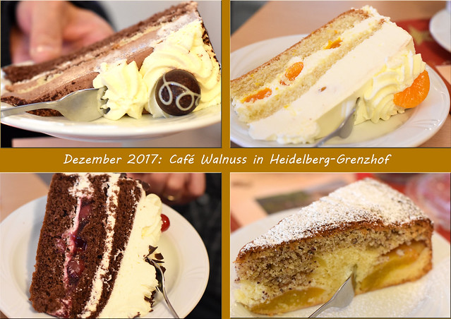 Café Walnuss in Heidelberg-Grenzhof ... Omas Nusskuchen ... Fotos: Brigitte Stolle