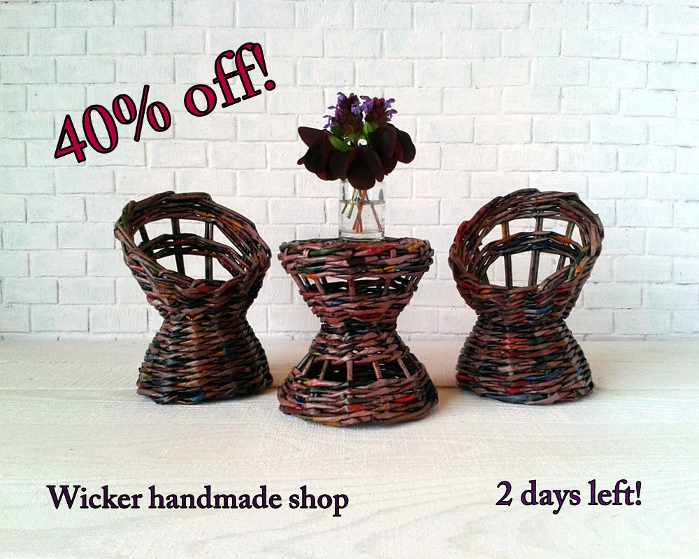 Wicker Dollhouse Outdoor Furniture For Ball Jointed Doll Flickr