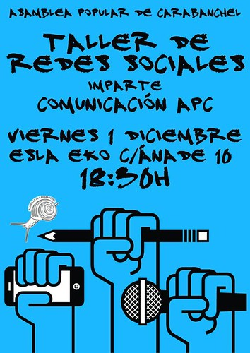 Cartel_TallerRedes_Eko_1dic17 | by A.P. Carabanchel 15M