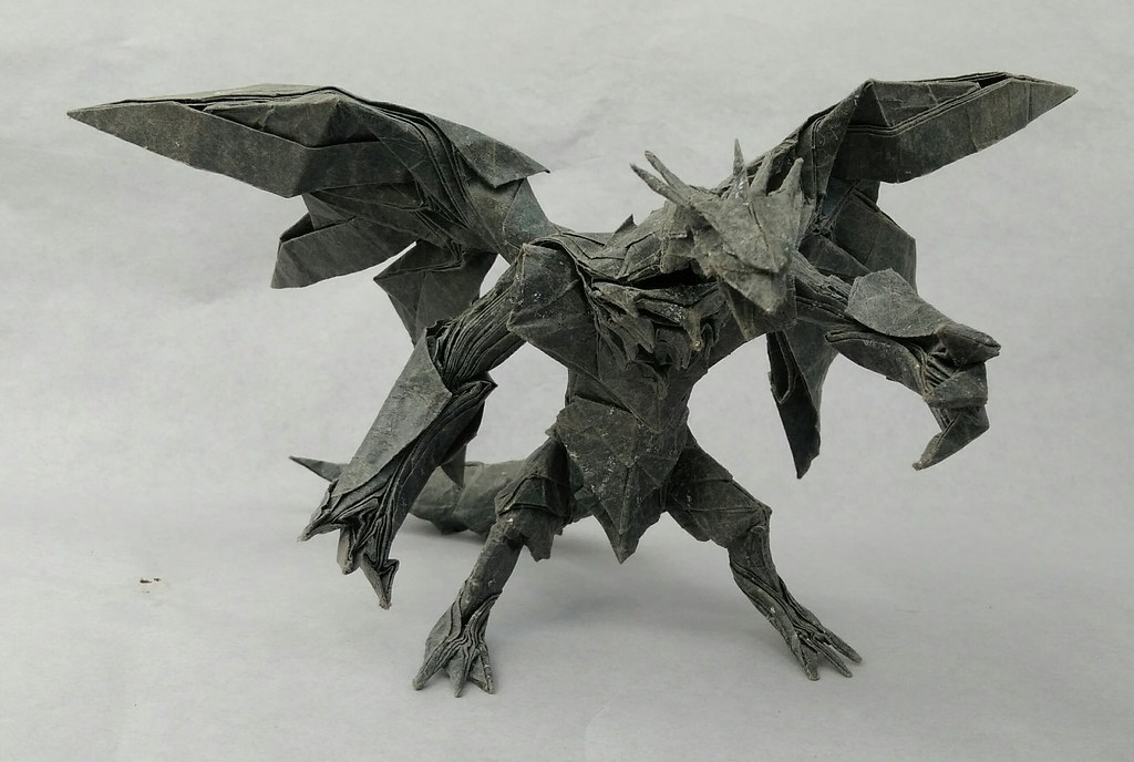 Dragon Folded And Designed By Me A Piece Of 75x75cm Foil Paper This