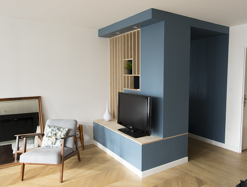 meuble d 39 entr e tv ikea hack cp bouleau meuble d 39 entr e flickr. Black Bedroom Furniture Sets. Home Design Ideas