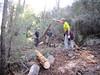 Travaux sur la partie du chemin entre le Pinu Neru et la brèche
