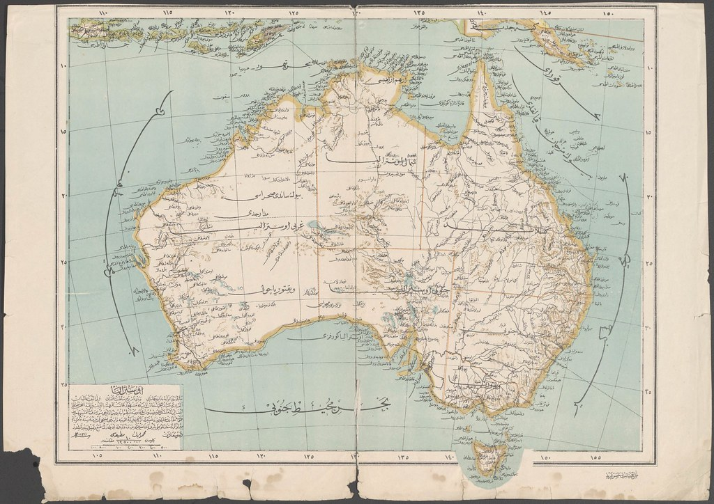 Ottoman map of Australia (1894)