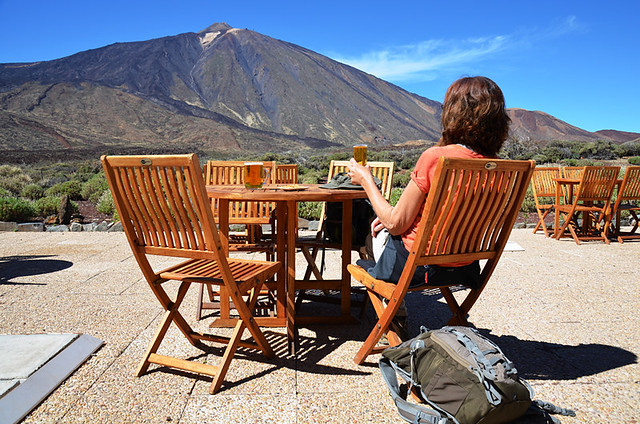 Beer and Mount Teide, Tenerife