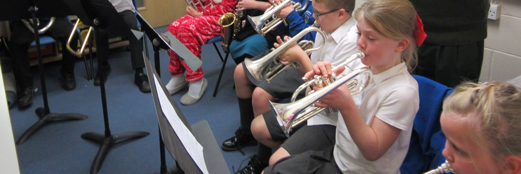 Carol Practice with Mrs Hacker and the Brass Group