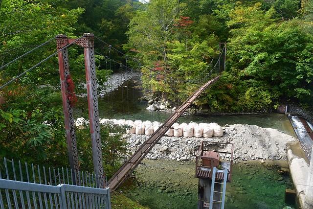 朝日鉱泉の吊り橋