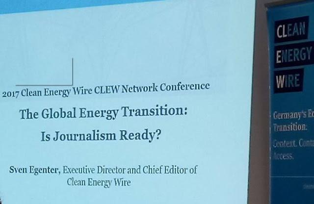 Clean Energy Wire在COP23期間舉辦媒體交流會議,期待創造國際連結與經驗分享。(拍攝:顏東白)