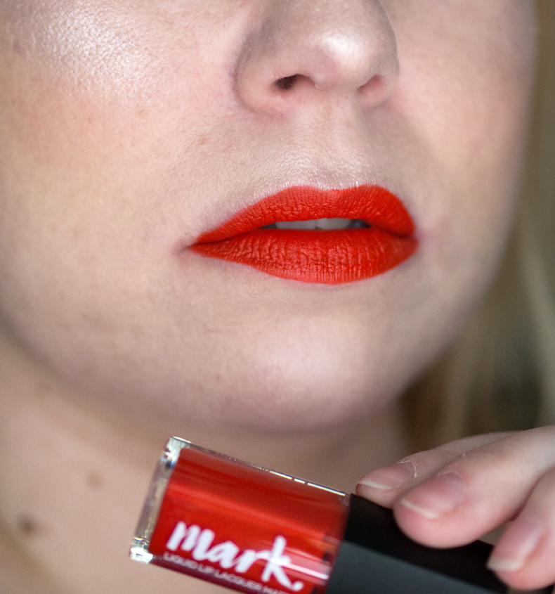 avon mark liquid lip lacquer orange you happy