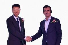 Bai Shengping, Huawei y Alberto de los Ríos, everis