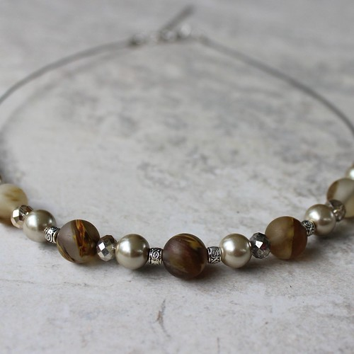 necklace Neutral beaded necklace!...